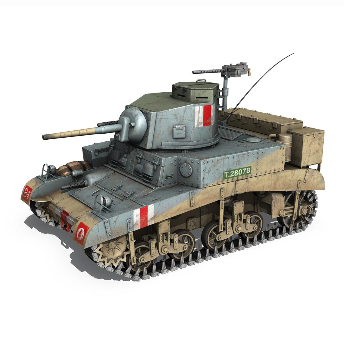 m3 light tank honey 3d model 3ds fbx c4d lwo obj 187314