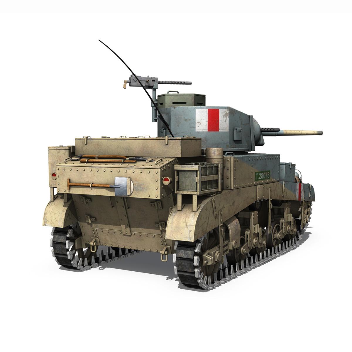M3 Light Tank Honey 3d model 3ds fbx c4d lwo obj 187316