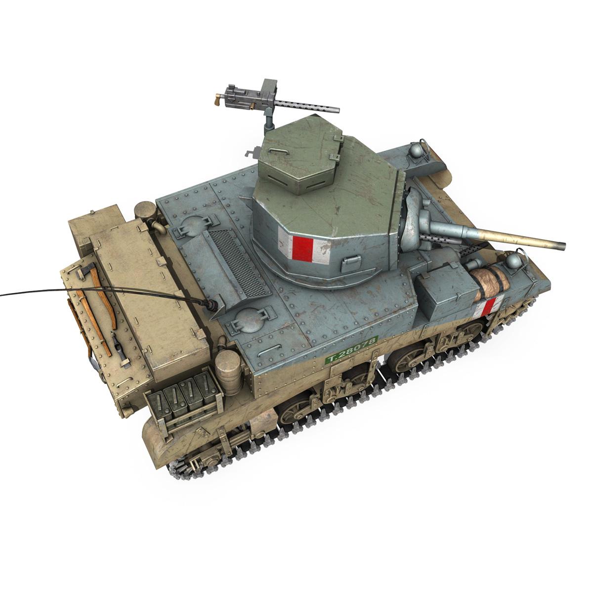M3 Light Tank Honey 3d model 3ds fbx c4d lwo obj 187317