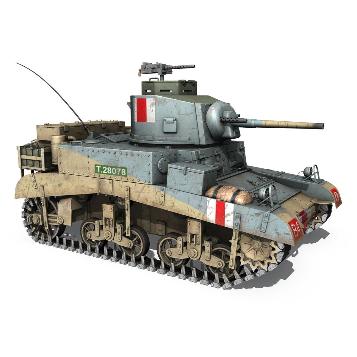 m3 light tank honey 3d model 3ds fbx c4d lwo obj 187318
