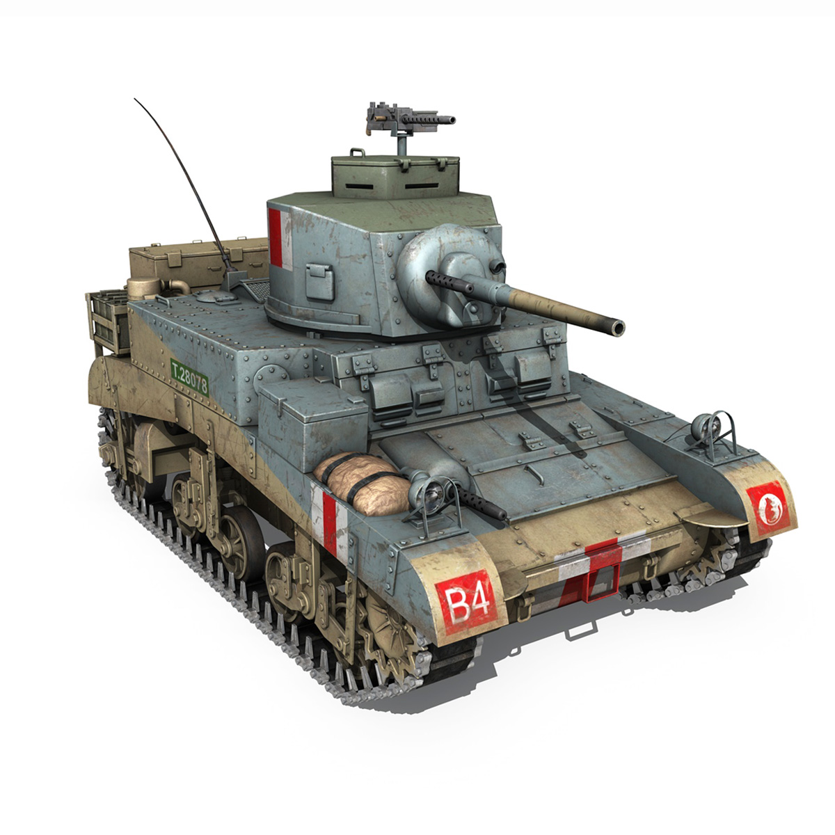 M3 Light Tank Honey 3d model 3ds fbx c4d lwo obj 187319