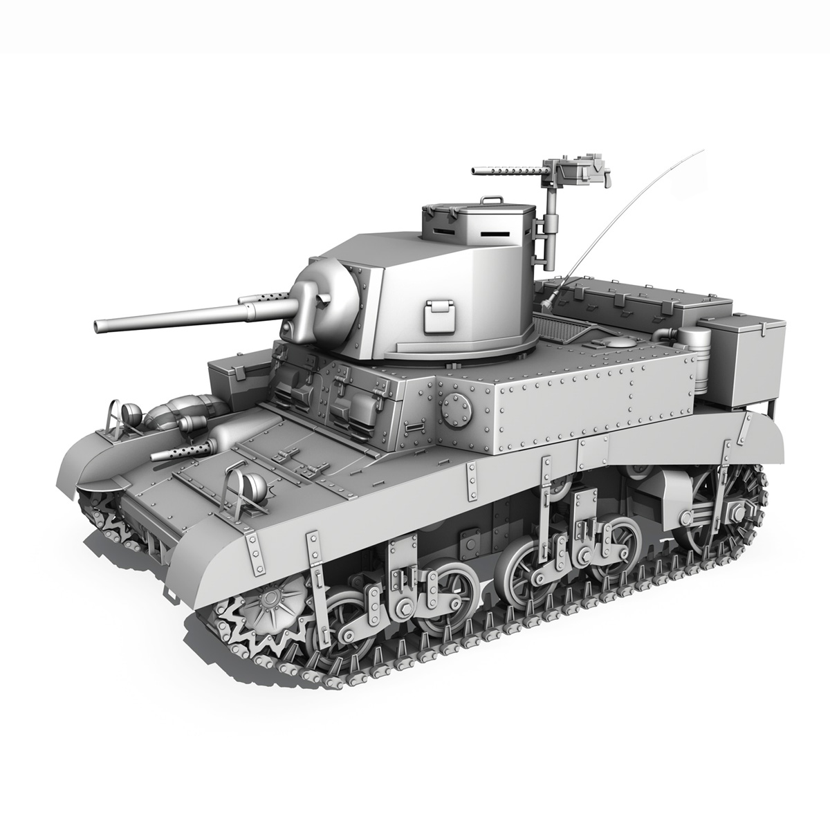 m3 light tank honey 3d model 3ds fbx c4d lwo obj 187321