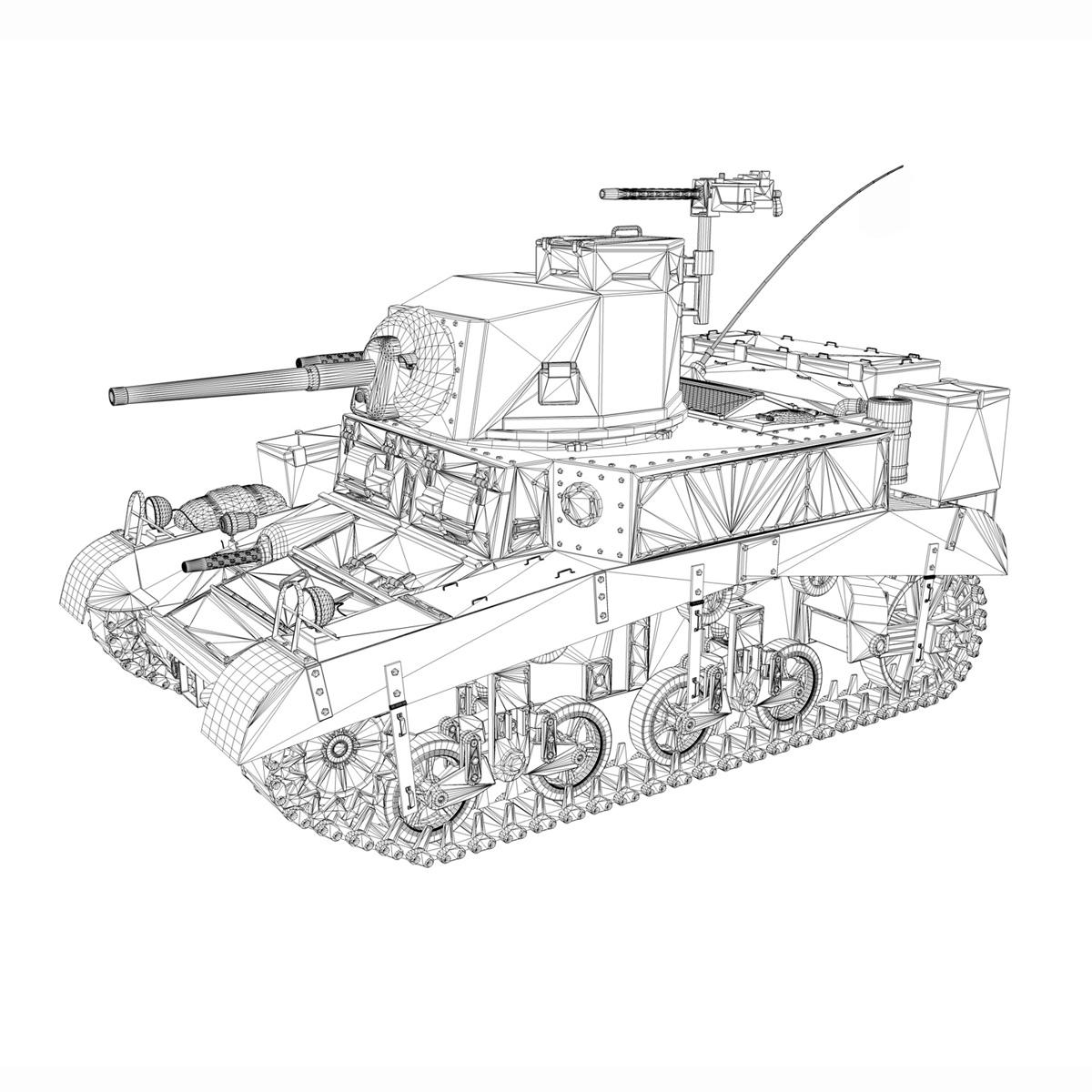 m3 light tank honey 3d model 3ds fbx c4d lwo obj 187322