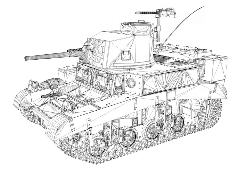 M3 Light Tank Honey 3d model 0