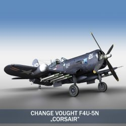 Change Vought F4U 5N Corsair 3d model 0
