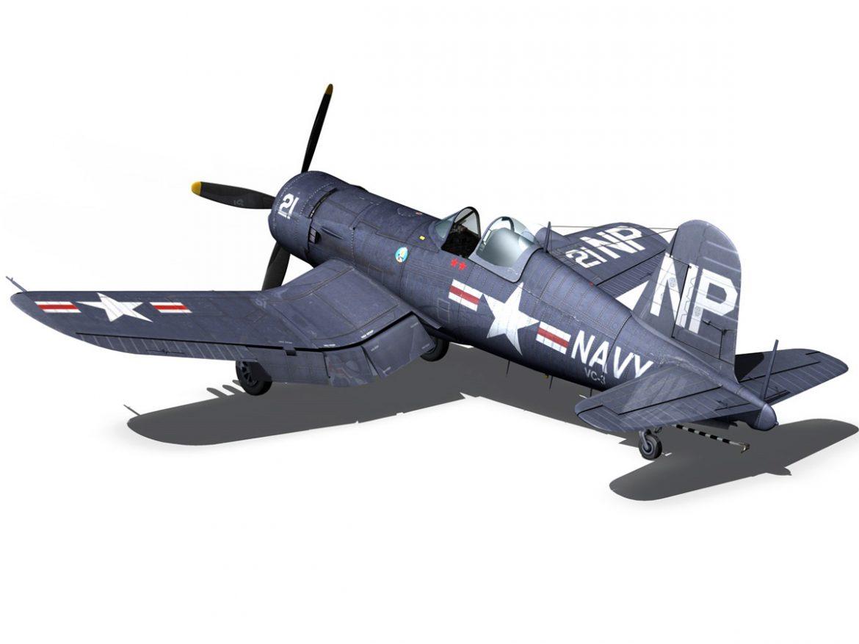Change Vought F4U 5N Corsair 3d model 3ds fbx c4d lwo lws lw obj