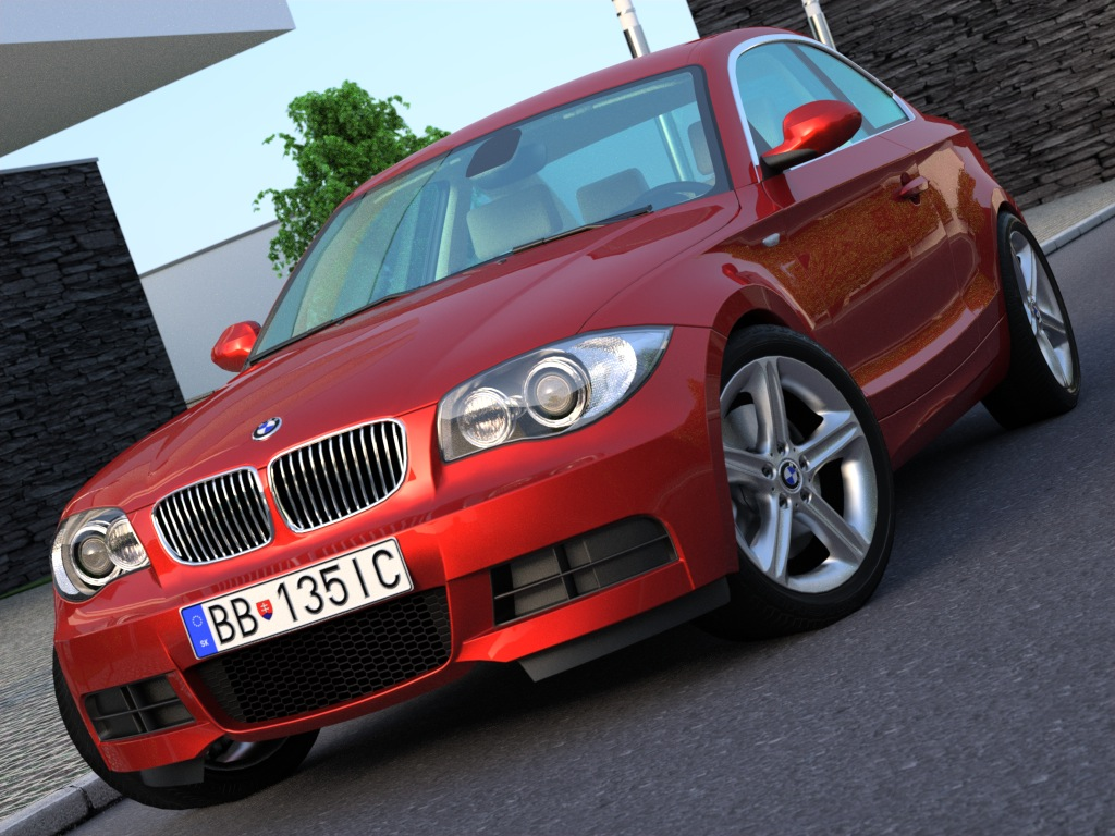 e82 1 series coupe (2009) 3d model 3ds max fbx c4d obj 187336