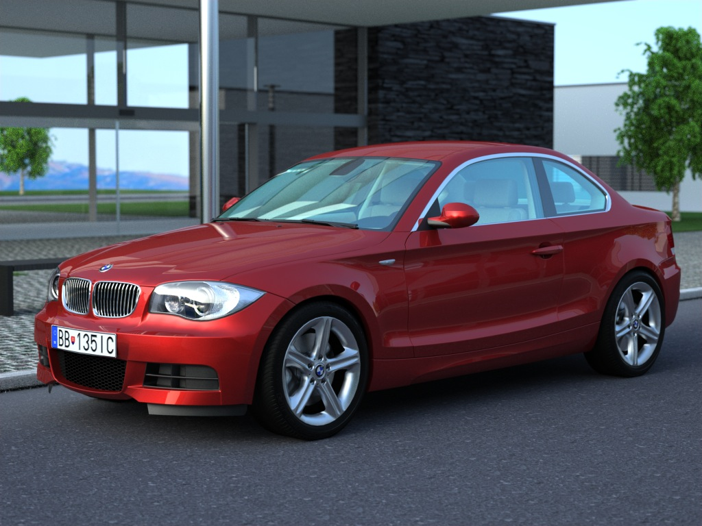 bmw 1 series coupe 2009 3d model buy bmw 1 series. Black Bedroom Furniture Sets. Home Design Ideas