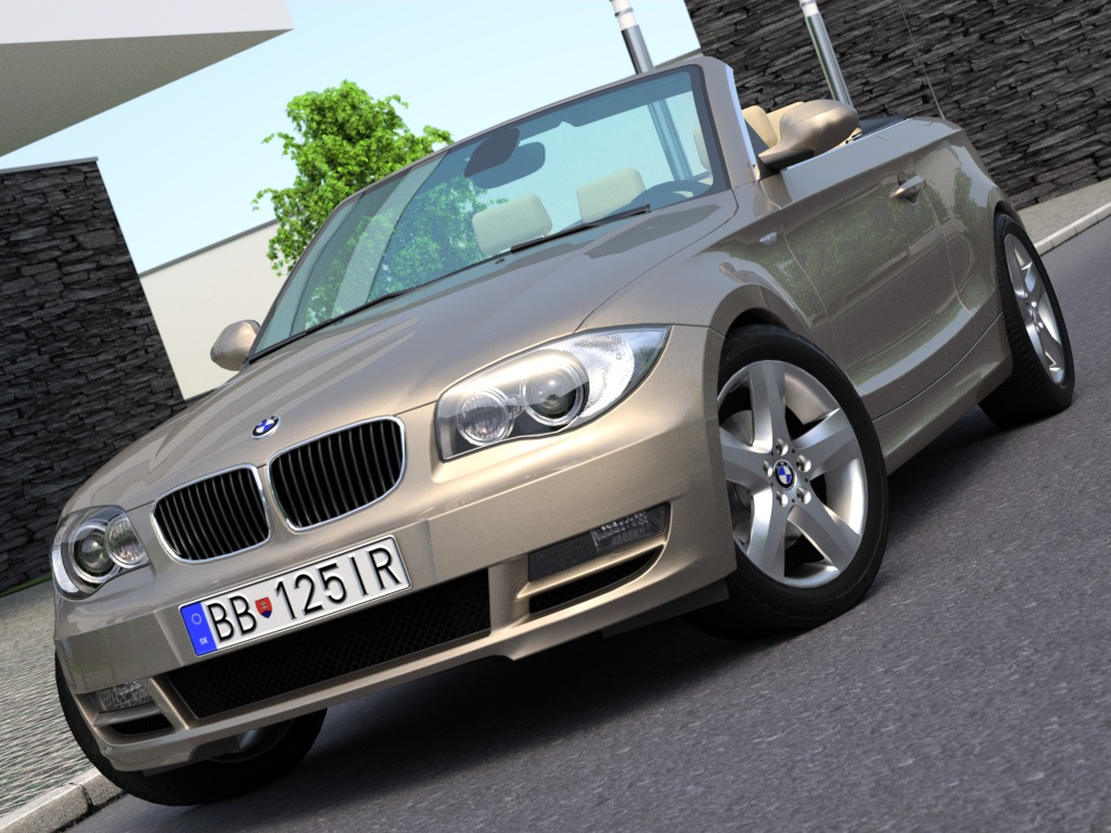 e88 1 series cabrio (2009) 3d model 3ds max fbx c4d obj 187345