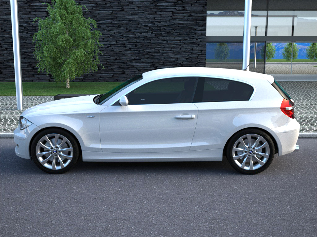 bmw 1 series 3 door 2009 3d model buy bmw 1 series 3 door 2009 3d model flatpyramid. Black Bedroom Furniture Sets. Home Design Ideas