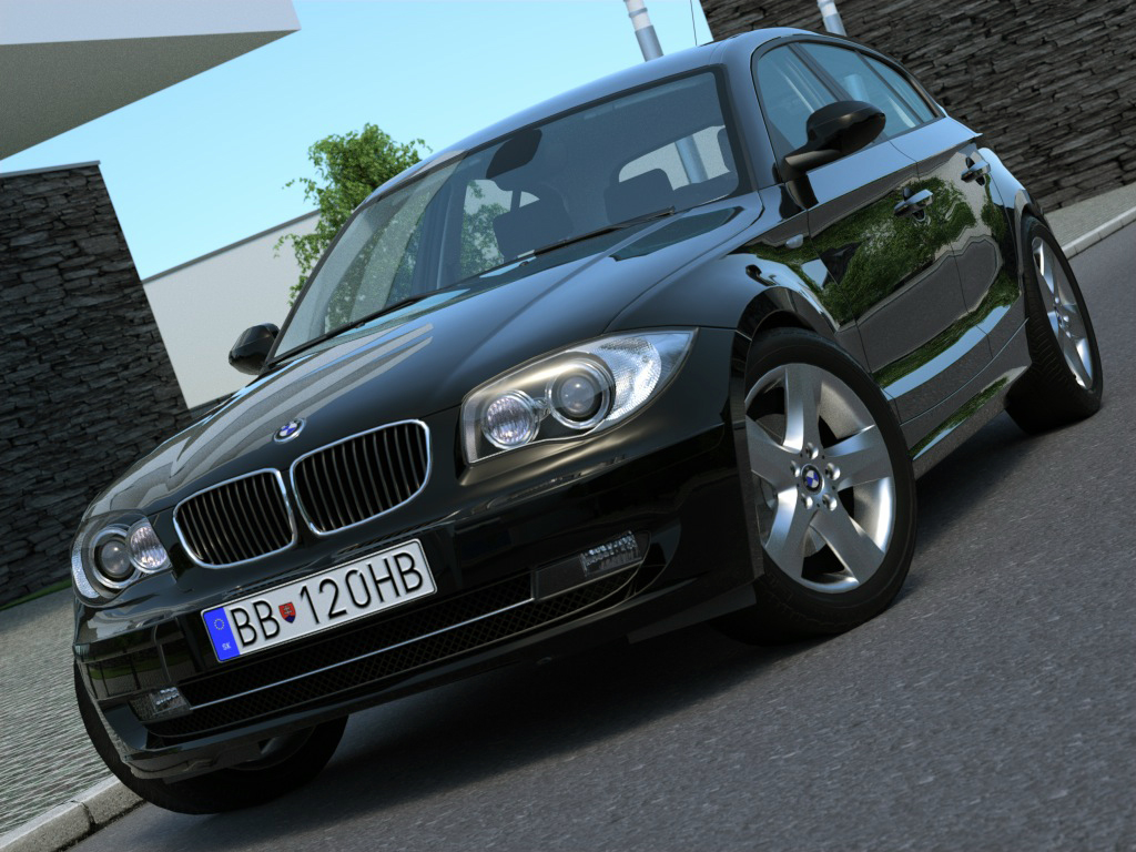 bmw 1 series 5 door (2009) 3d model 3ds max fbx c4d obj 187448
