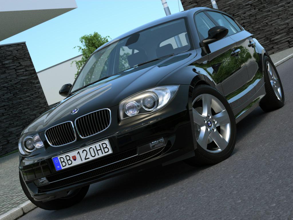 BMW 1 series 5 door (2009) 3d model 3ds max fbx c4d obj 187448