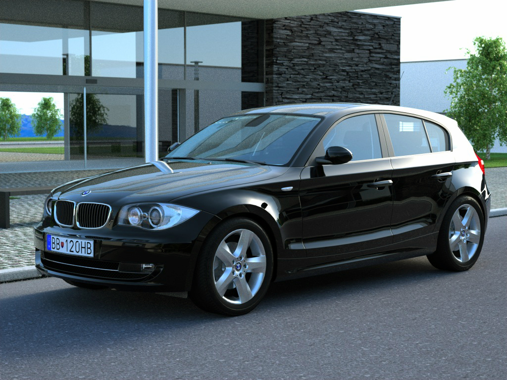 bmw 1 series 5 door 2009 3d model buy bmw 1 series 5. Black Bedroom Furniture Sets. Home Design Ideas