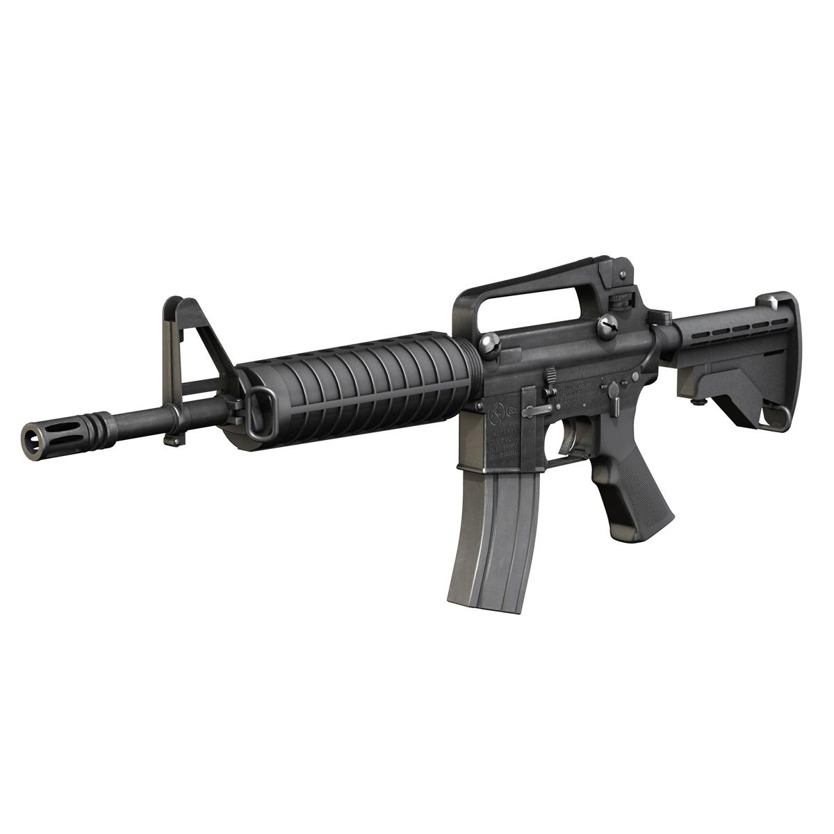colt m4 commando assault rifle 3d model 3ds fbx c4d lwo obj 187496