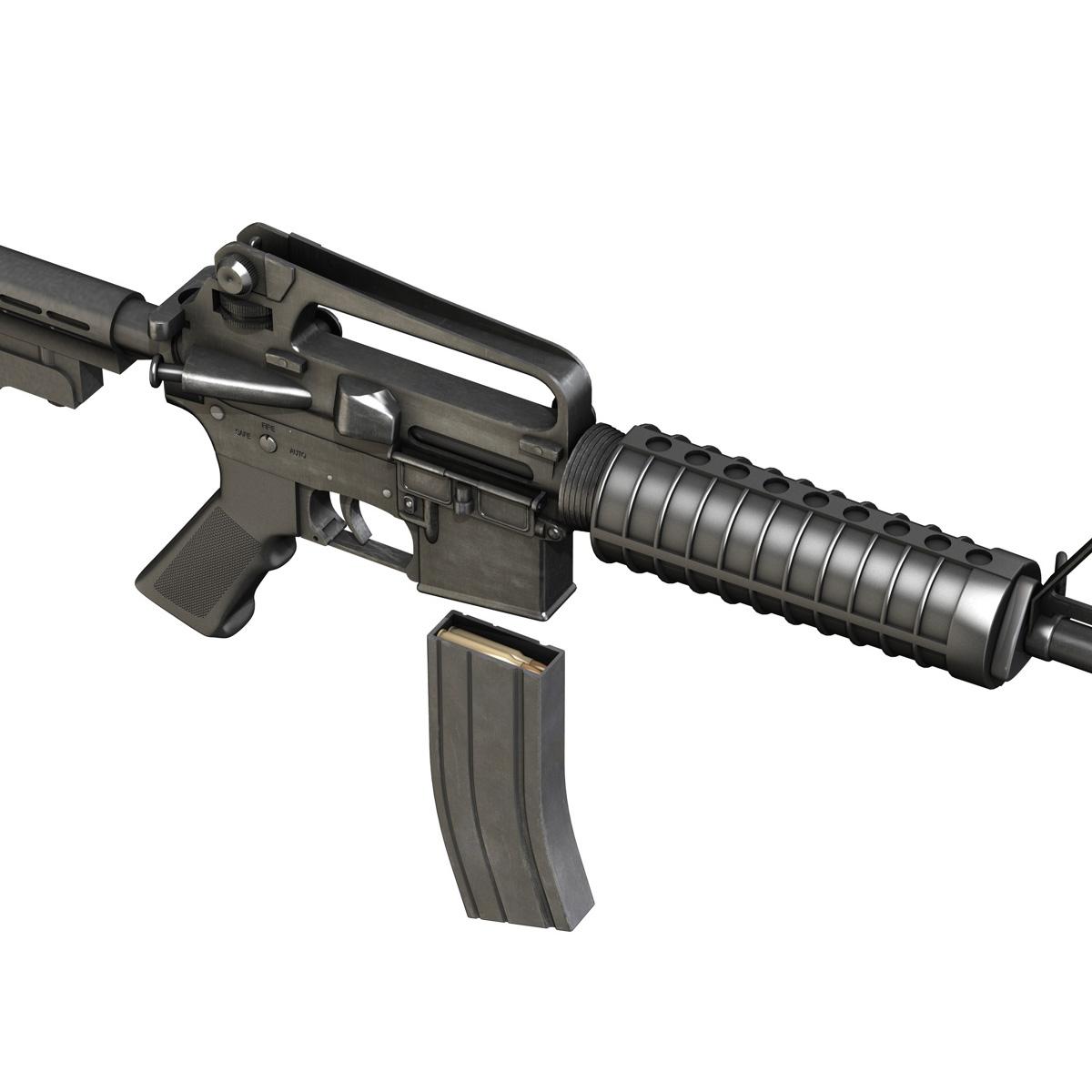 colt m4 commando assault rifle 3d model 3ds fbx c4d lwo obj 187501