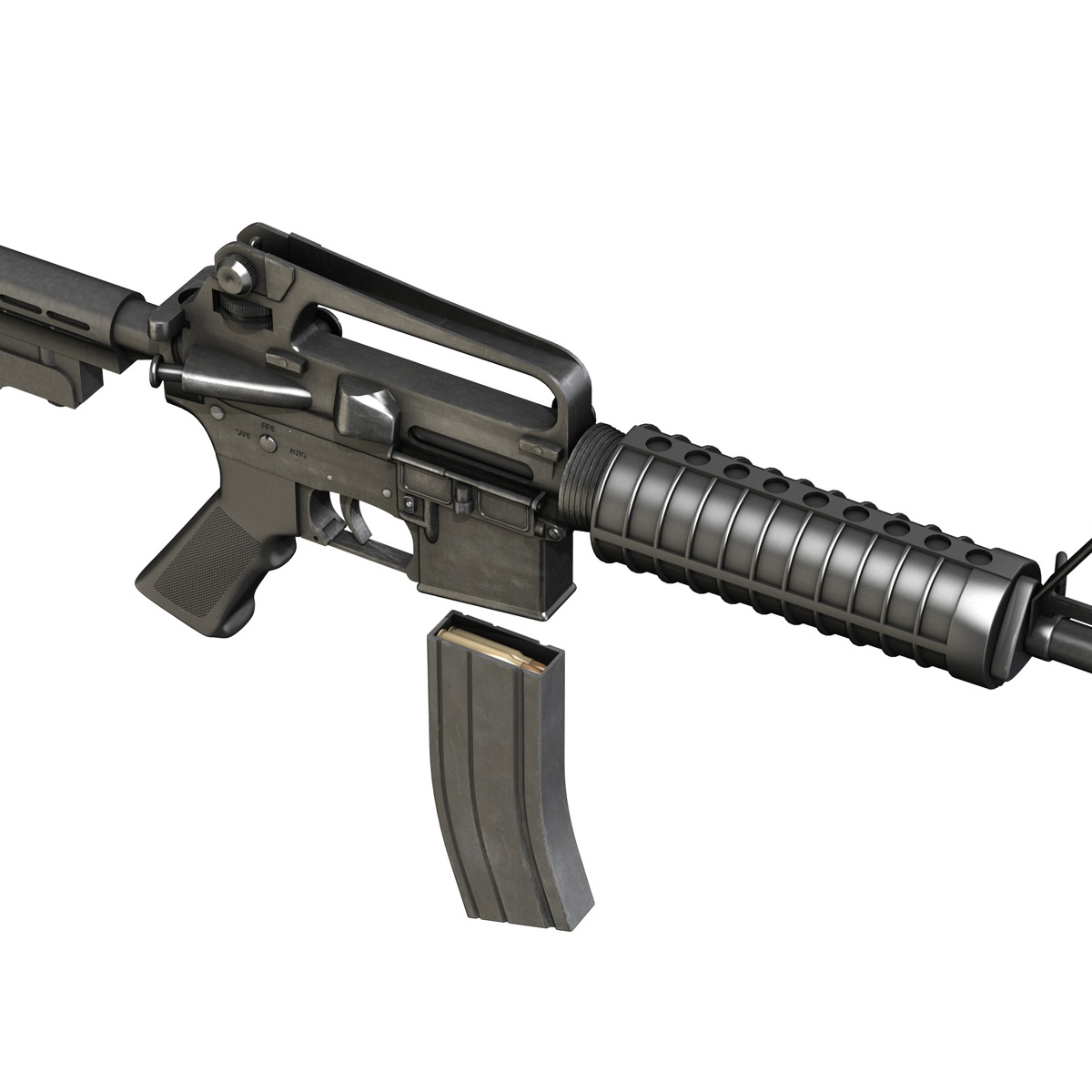 Colt M4 Commando Assault Rifle 3D Model