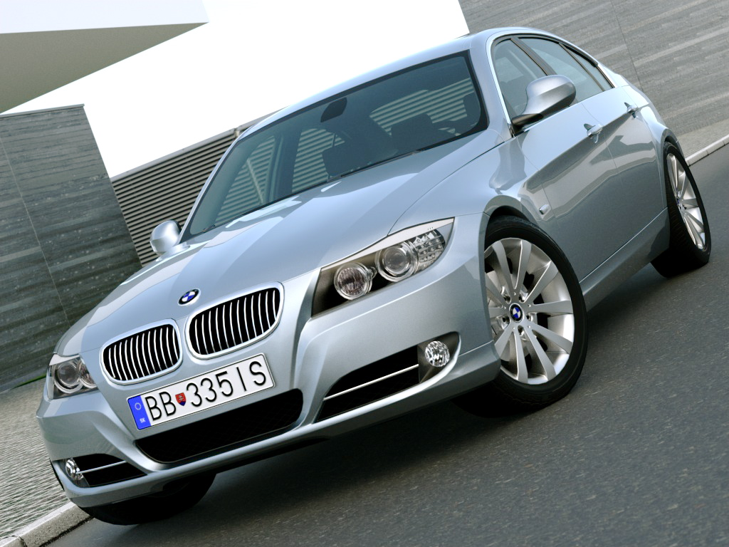 e90 3 series sedan (2009) 3d model 3ds max fbx c4d obj 187505