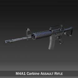 Colt M4A1 Carbine Assault rifle 3d model 0