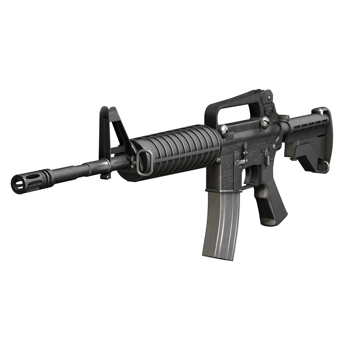 colt m4a1 carbine довтолгооны буу 3d загвар 3ds fbx c4d lwo obj 187786