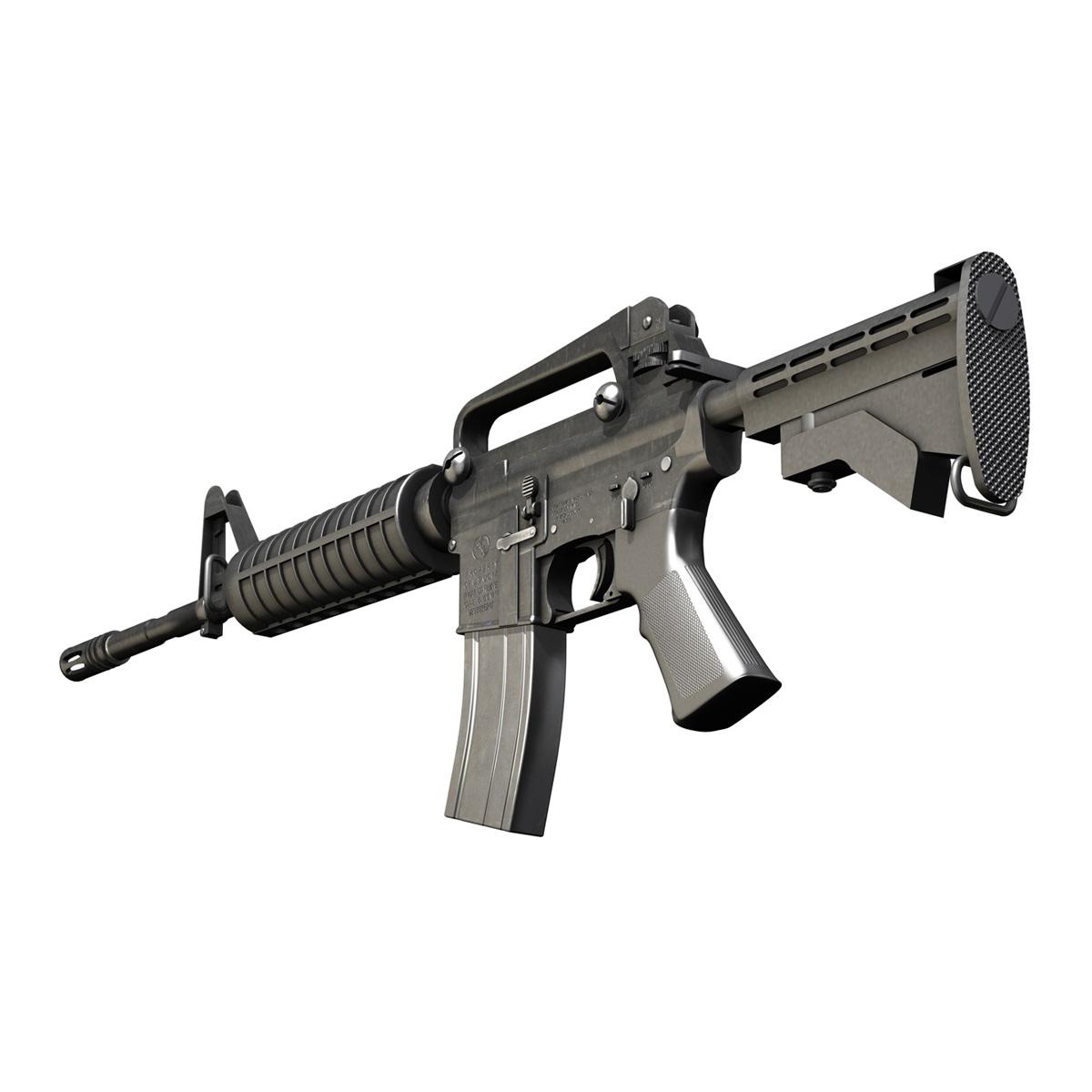 Colt M4A1 Carbine Assault Rifle 3D Model