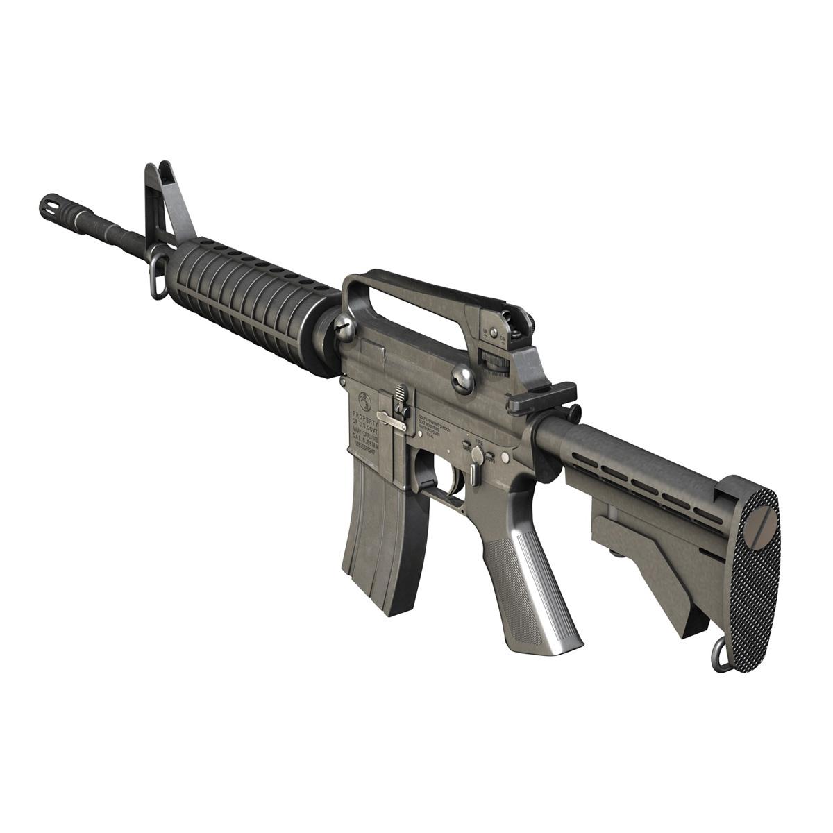 colt m4a1 carbine довтолгооны буу 3d загвар 3ds fbx c4d lwo obj 187788