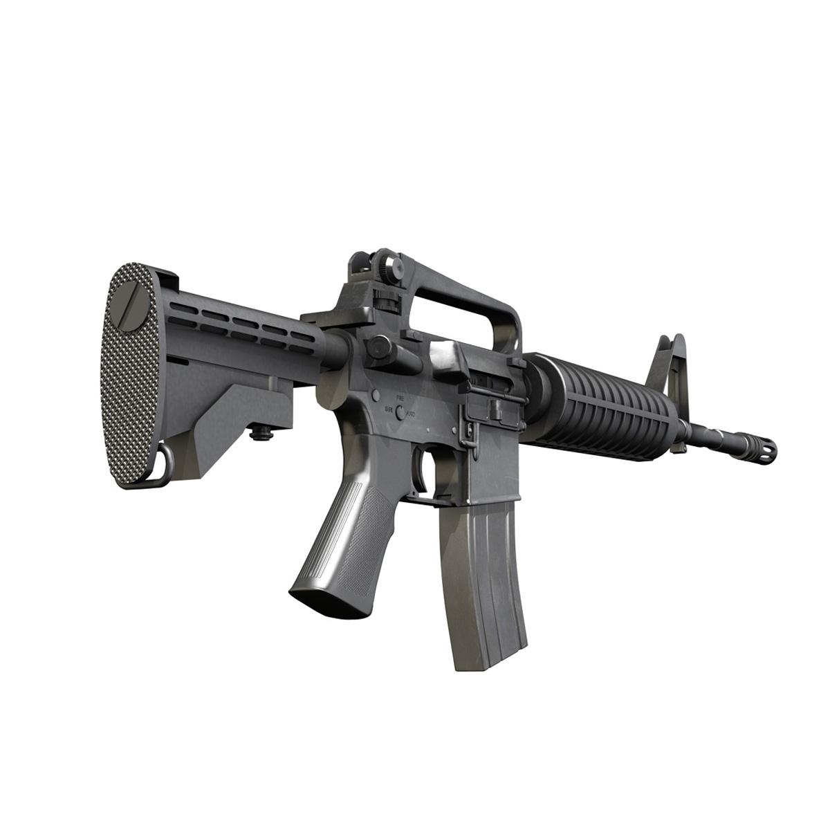 colt m4a1 carbine довтолгооны буу 3d загвар 3ds fbx c4d lwo obj 187789