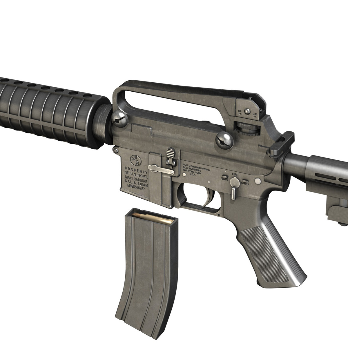 Colt M4A1 Carbine Assault Rifle 3D Model