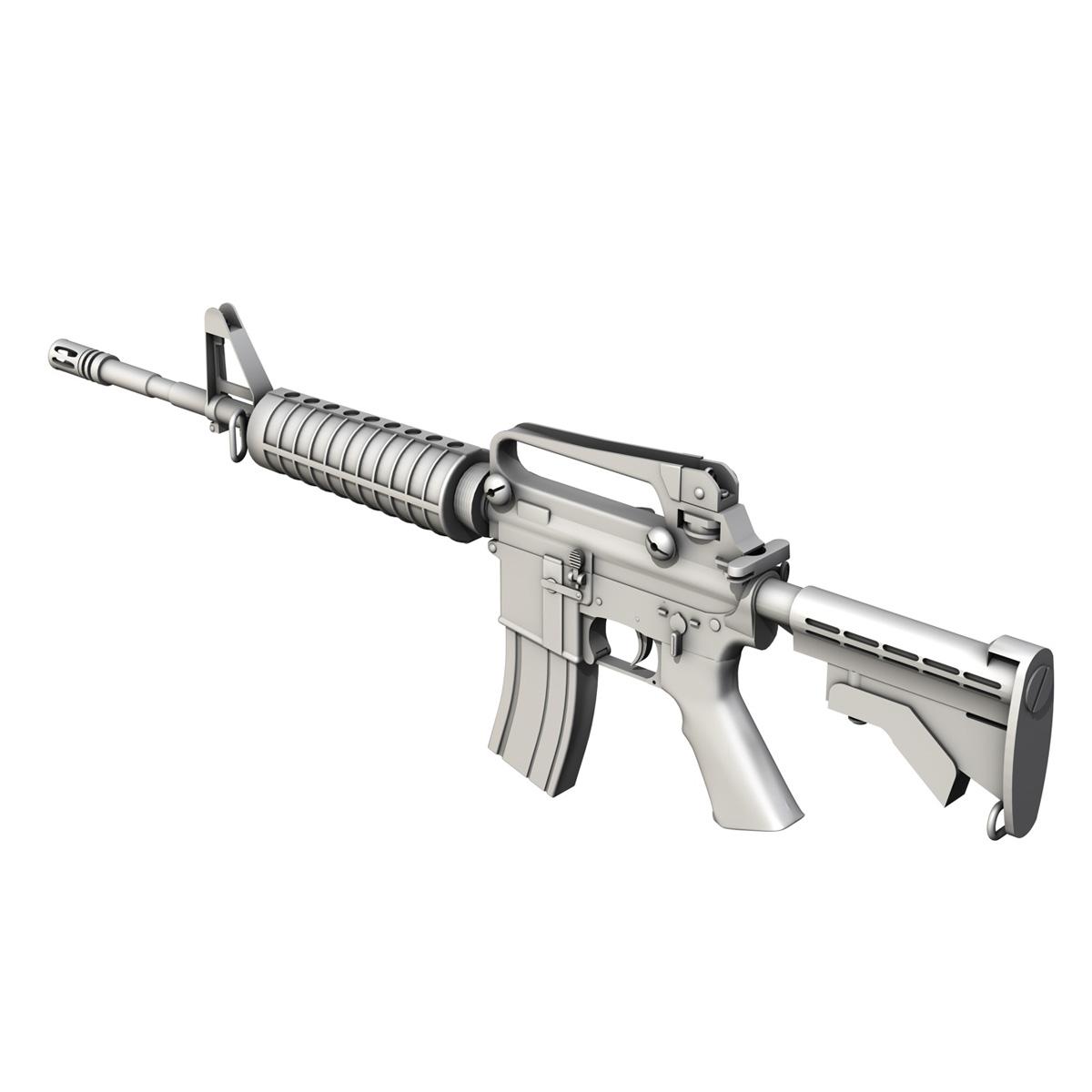colt m4a1 carbine довтолгооны буу 3d загвар 3ds fbx c4d lwo obj 187793