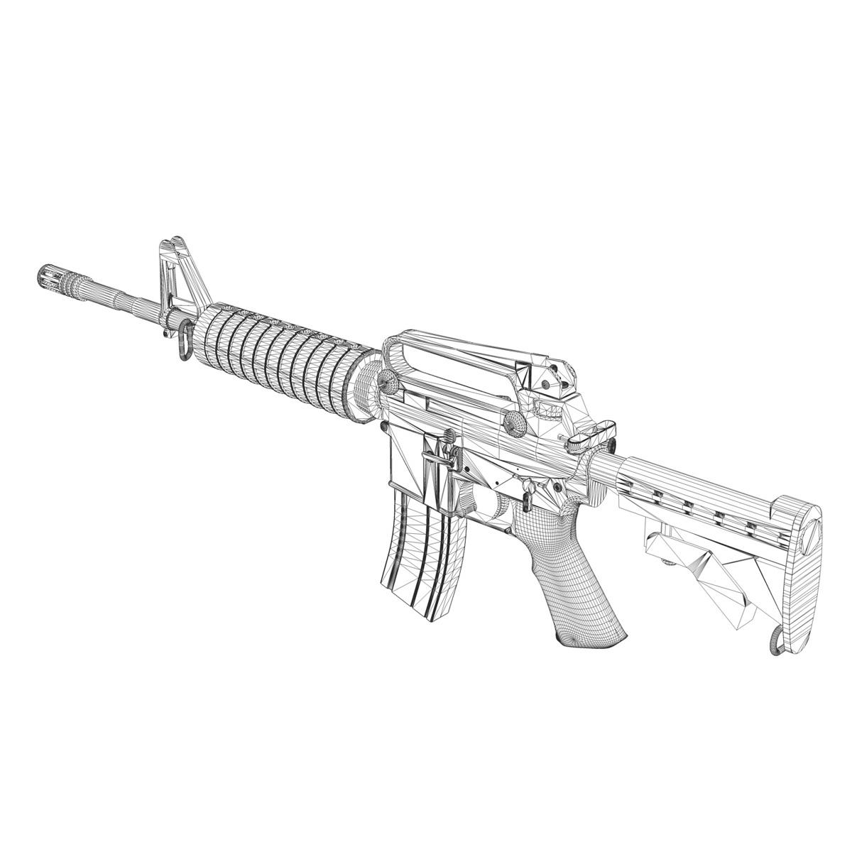 colt m4a1 carbine довтолгооны буу 3d загвар 3ds fbx c4d lwo obj 187794