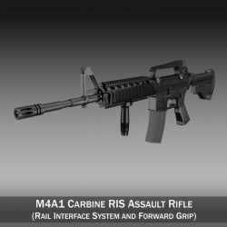 Colt M4A1 Carbine RIS Assault rifle ( 182.5KB jpg by Panaristi )