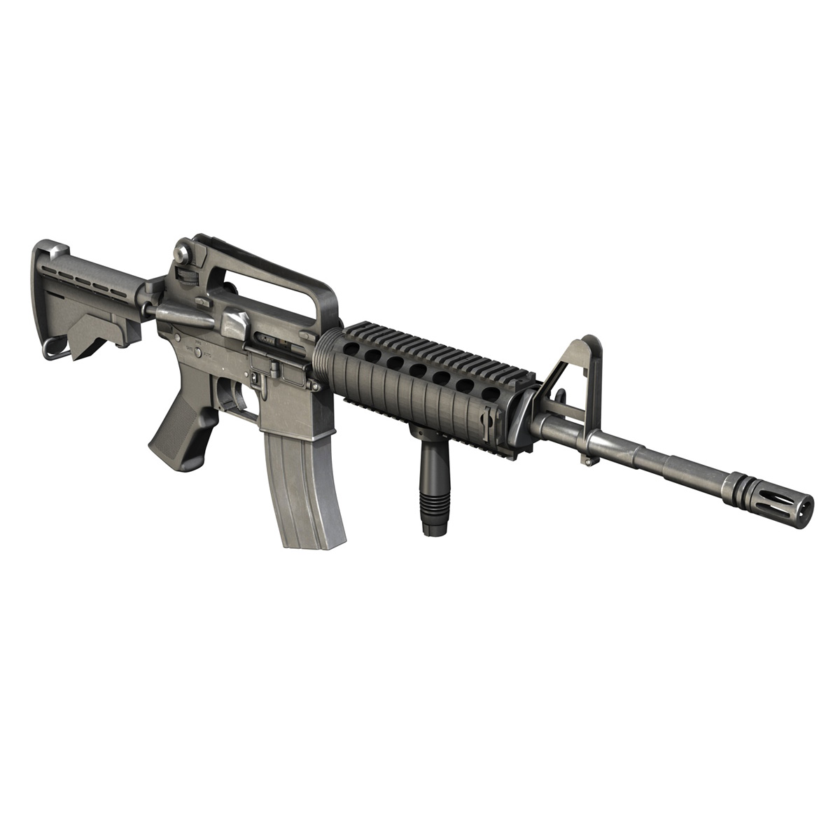 Colt M4A1 Carbine RIS Assault Rifle 3D Model