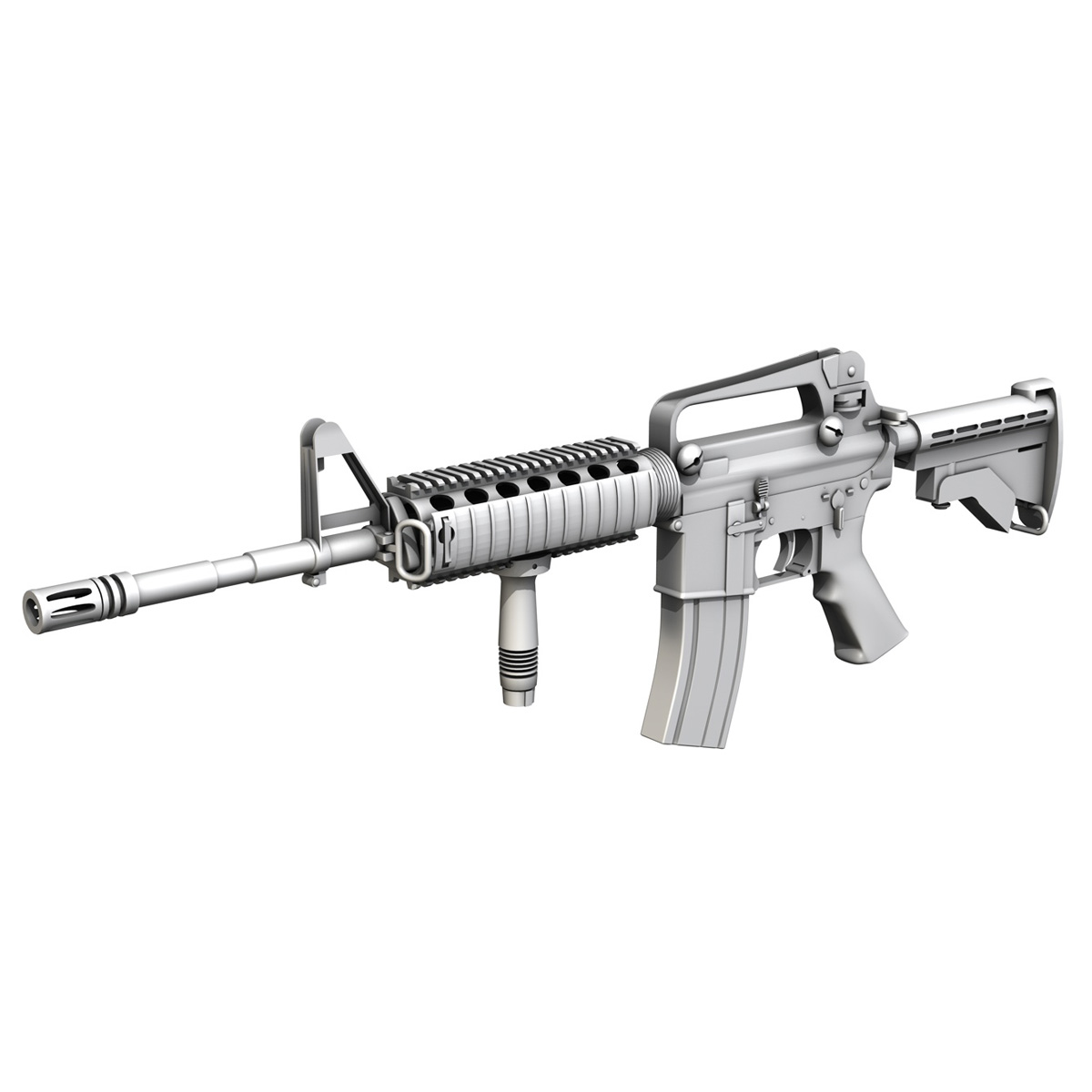 Colt M4A1 Carbine RIS Assault Rifle 3D Model