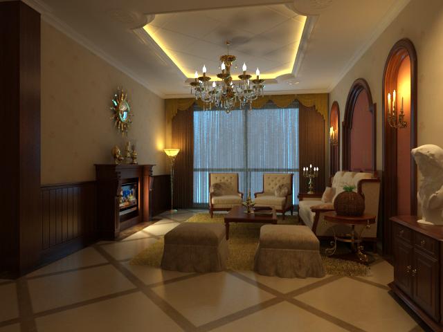 Living room 71 3d model interior design max ar vr for Living room designs 3d model