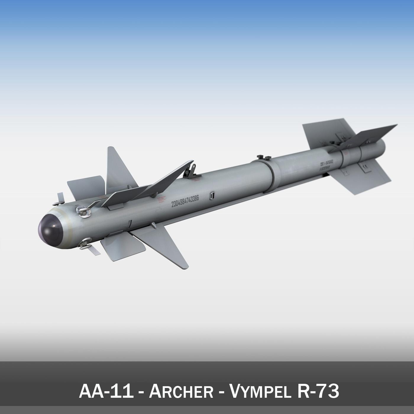 aa 11 archer vympel r 73 3d model 3ds fbx c4d lwo obj 188148