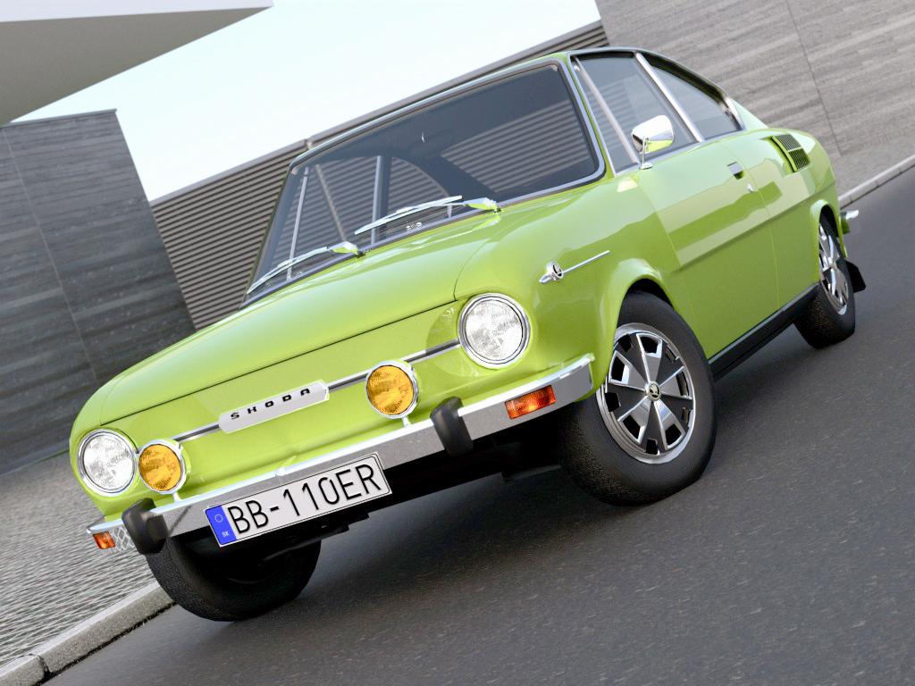 skoda 110r (1971) 3d model 3ds max fbx c4d obj 188222