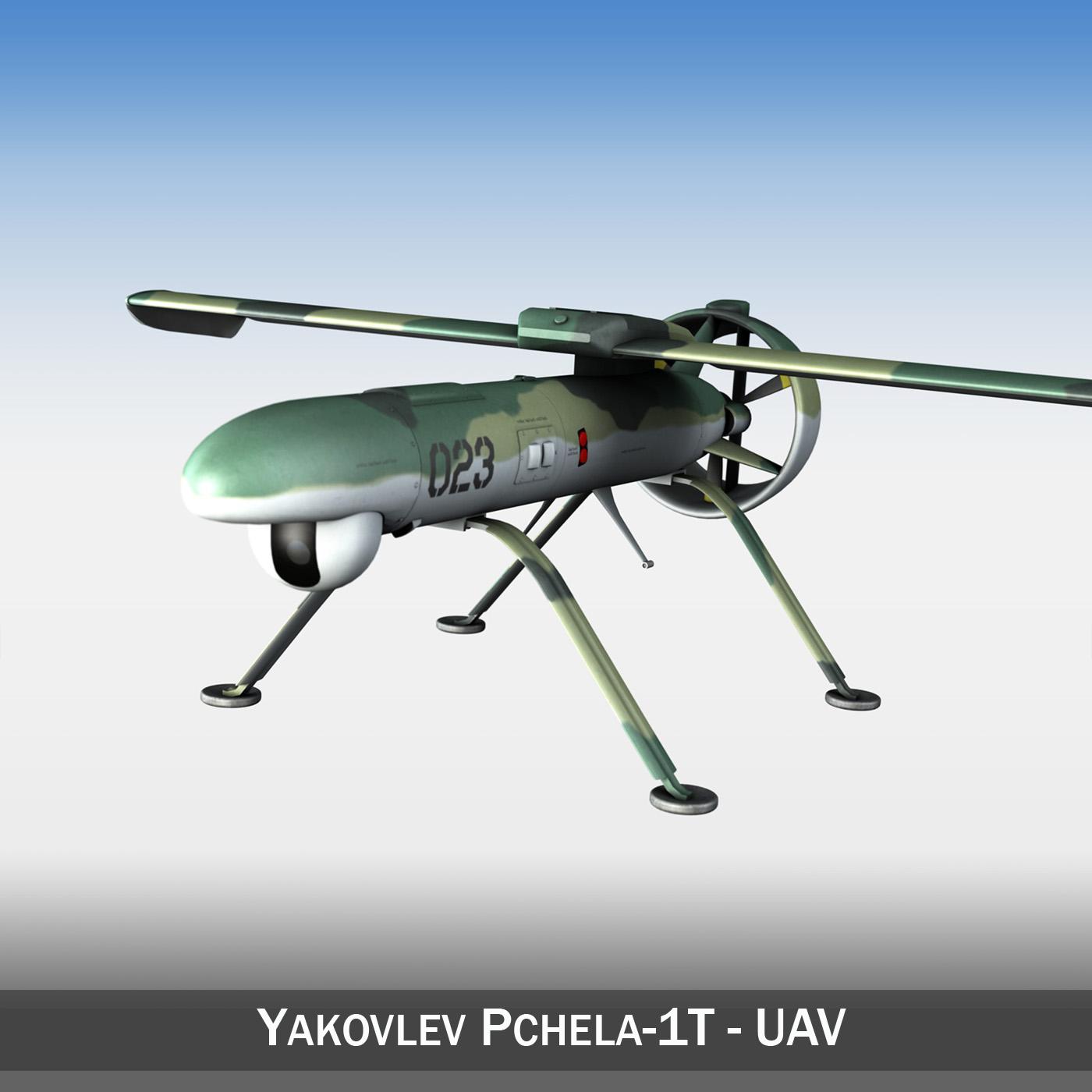pchela 1t drone russian uav 3d model 3ds fbx c4d lwo obj 188460