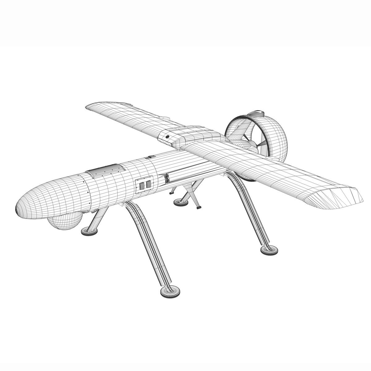 pchela 1t drone orosz uav 3d modell 3ds fbx c4d lwo obj 188469