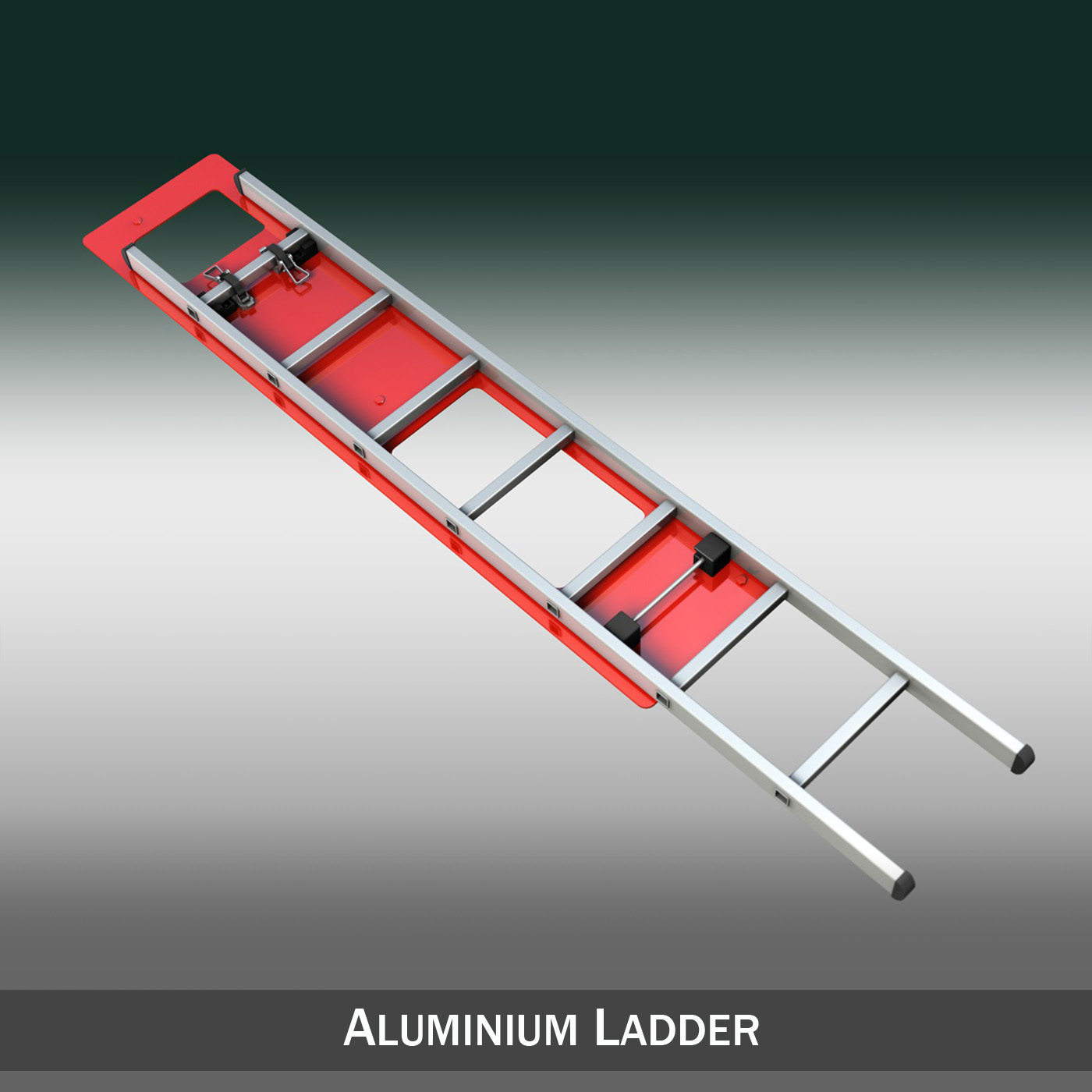 alu ladder with vehicle mounting 3d model 3ds fbx c4d lwo obj 188478