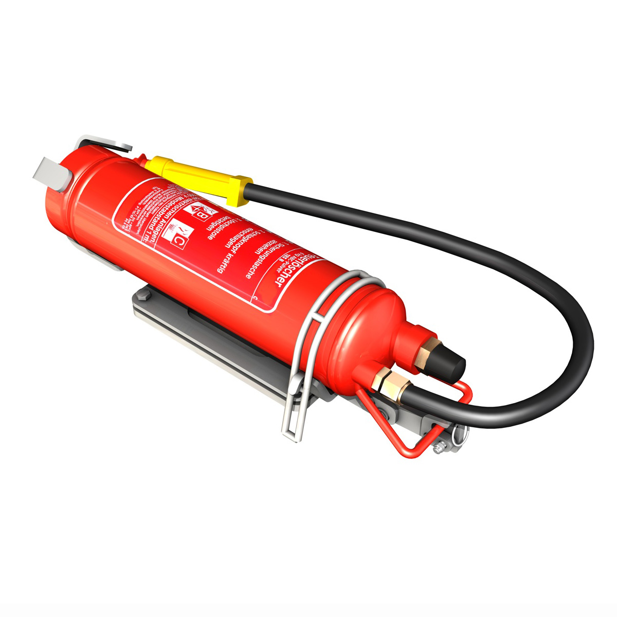 fire extinguisher with vehicle mounting 3d model 3ds fbx c4d lwo obj 188491