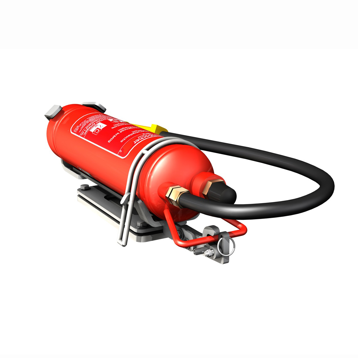 fire extinguisher with vehicle mounting 3d model 3ds fbx c4d lwo obj 188493