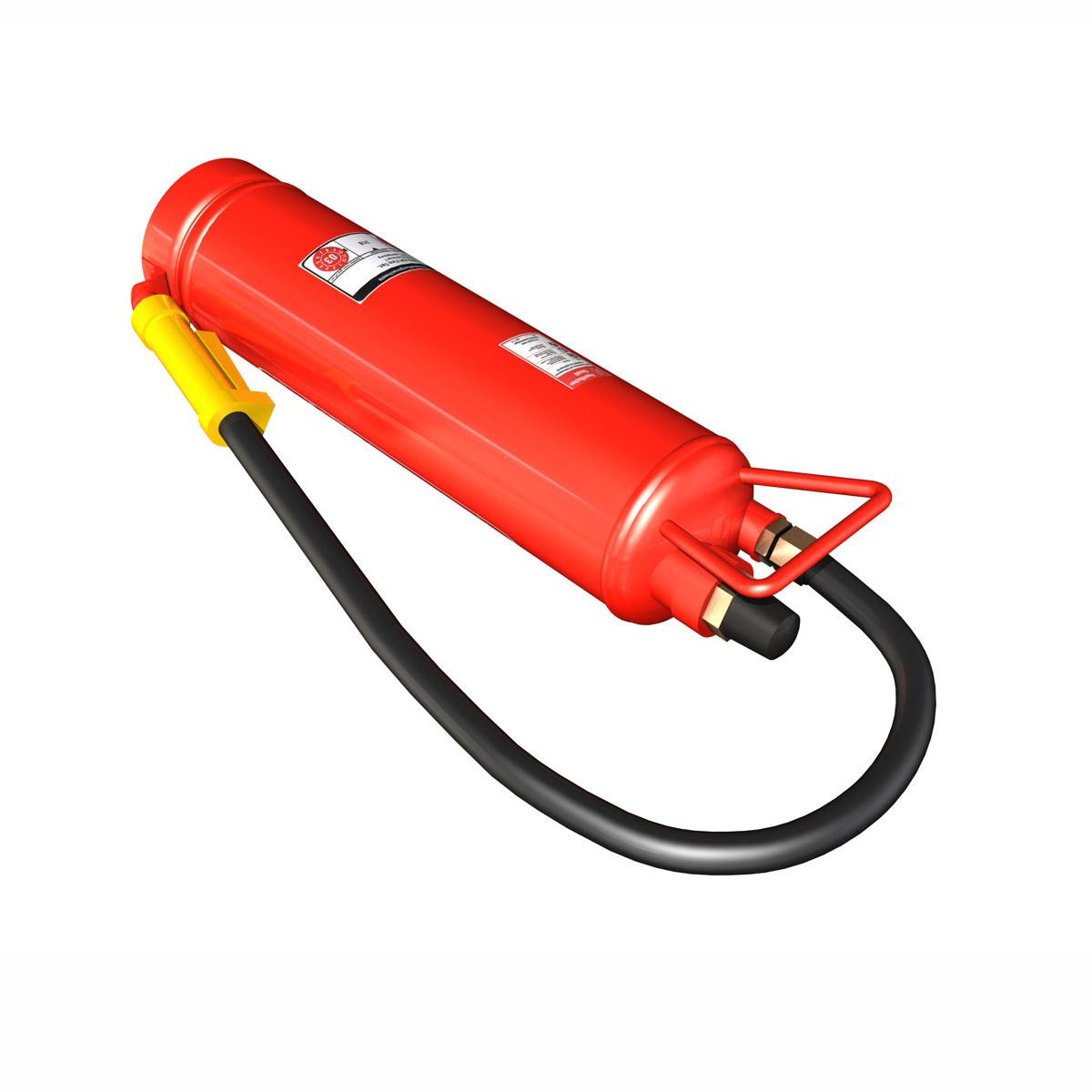 fire extinguisher with vehicle mounting 3d model 3ds fbx c4d lwo obj 188496