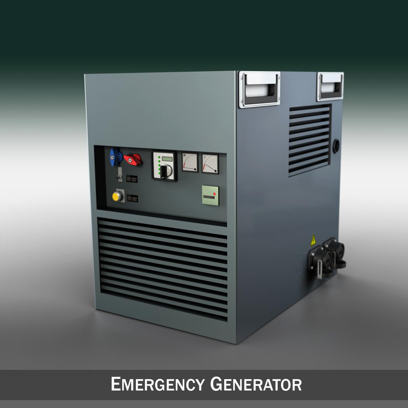 Emergency generator 3d Model Industrial 3D Models Dynamo 3ds fbx