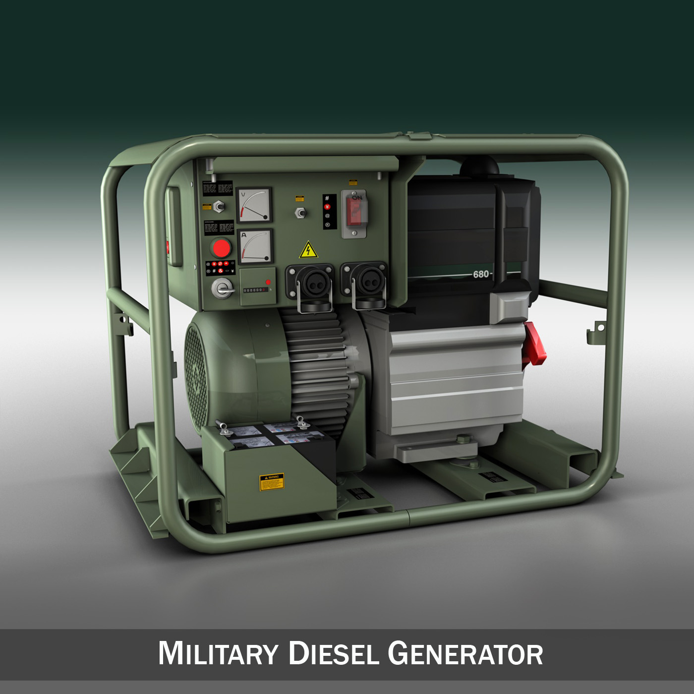 Military Diesel Generator 3d Model Buy Military Diesel