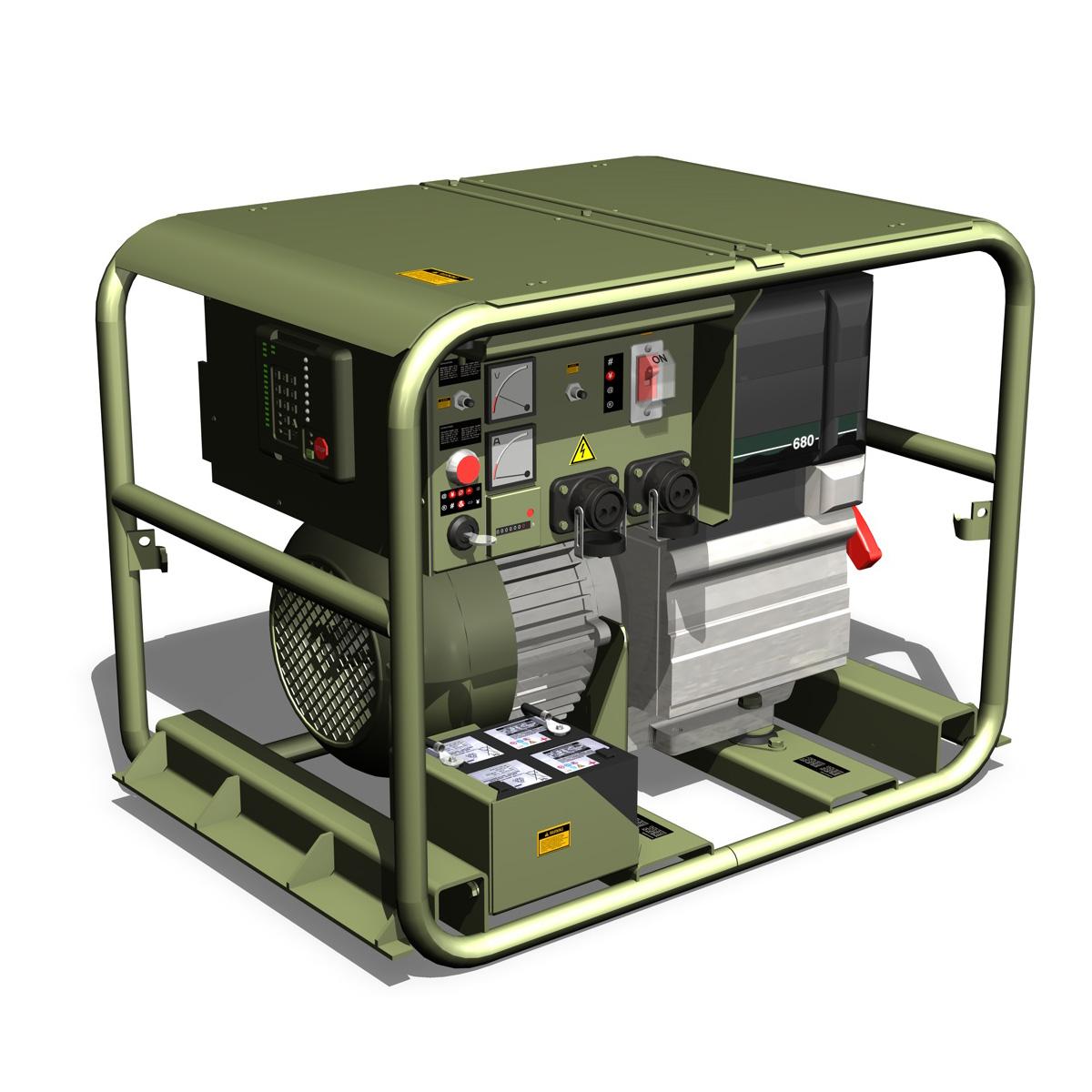 military diesel generator 3d model 3ds fbx c4d lwo obj 188556