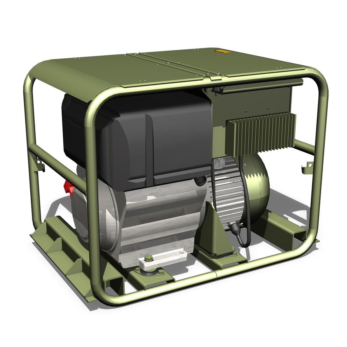 military diesel generator 3d model 3ds fbx c4d lwo obj 188558