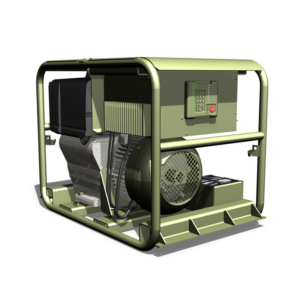 military diesel generator 3d model 3ds fbx c4d lwo obj 188559