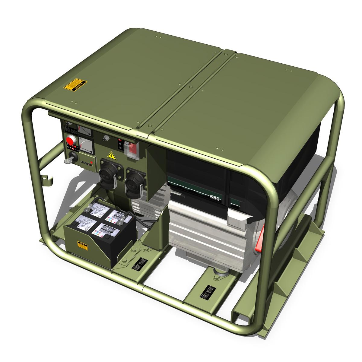 military diesel generator 3d model 3ds fbx c4d lwo obj 188560