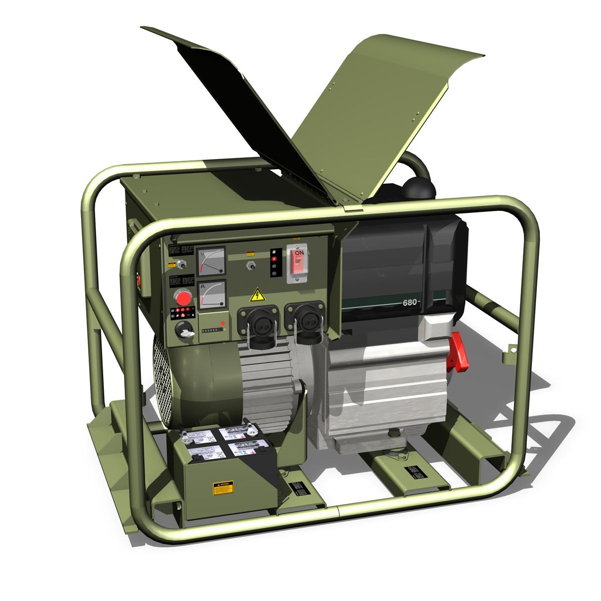 military diesel generator 3d model 3ds fbx c4d lwo obj 188561