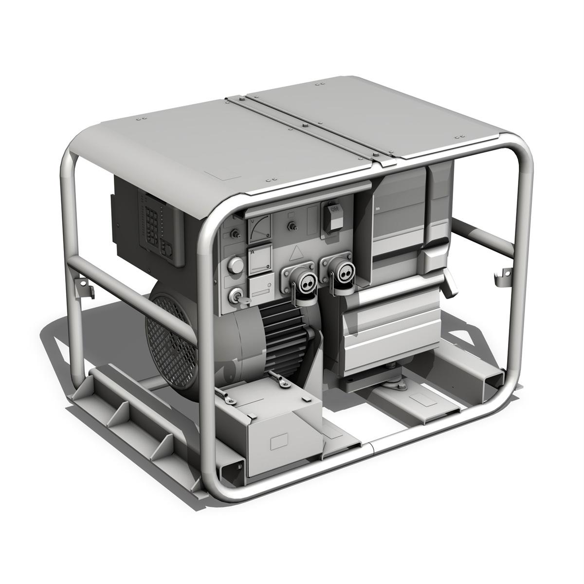 military diesel generator 3d model 3ds fbx c4d lwo obj 188562