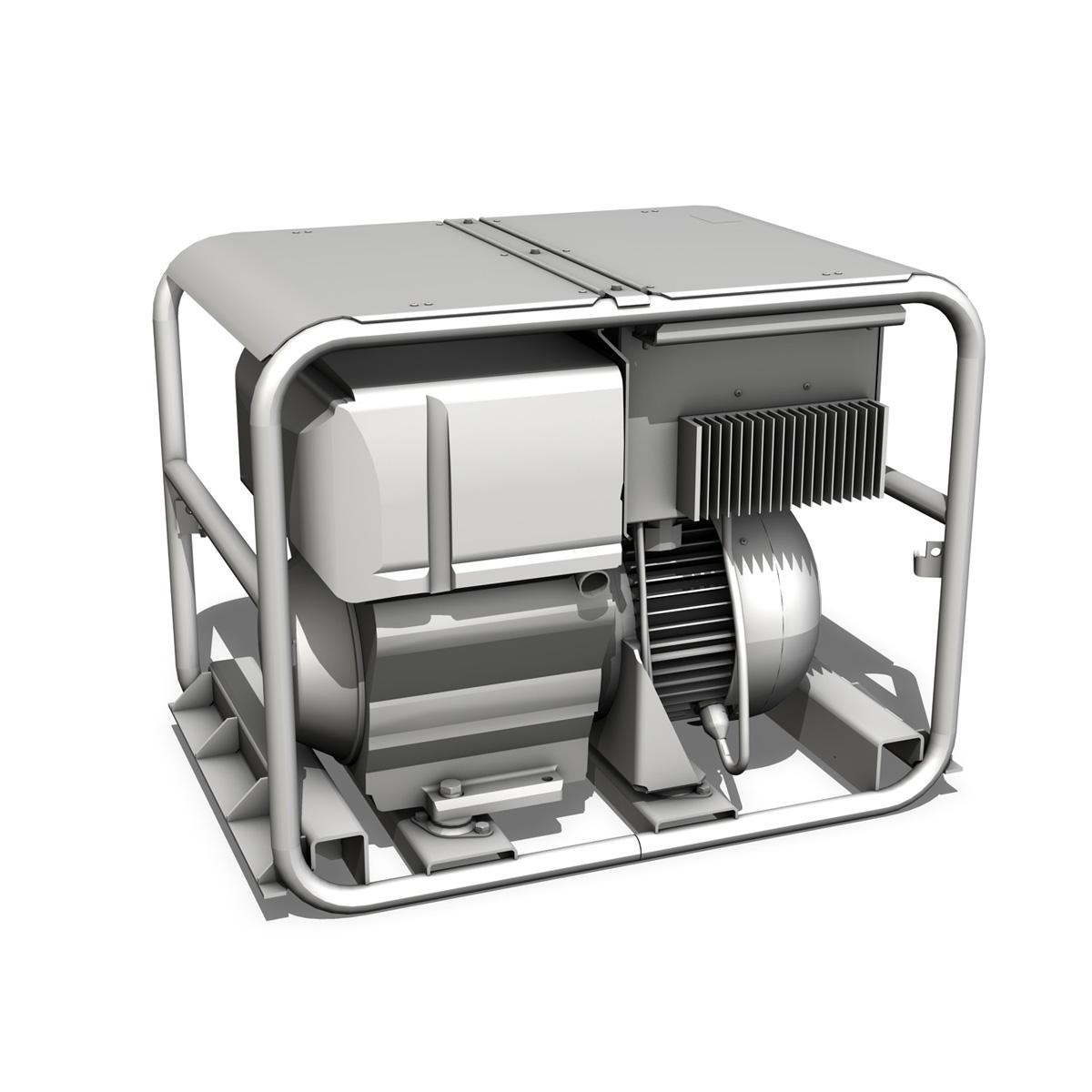military diesel generator 3d model 3ds fbx c4d lwo obj 188563